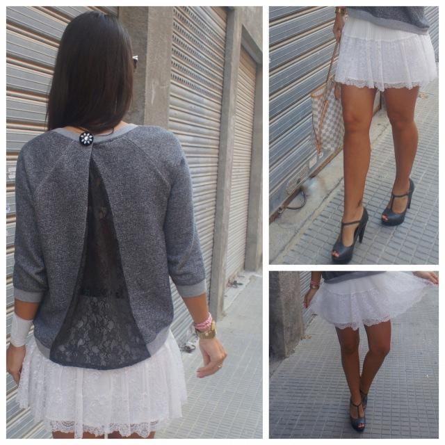 Post falda blanca y jersey gris-001 apiesjuntillas.com