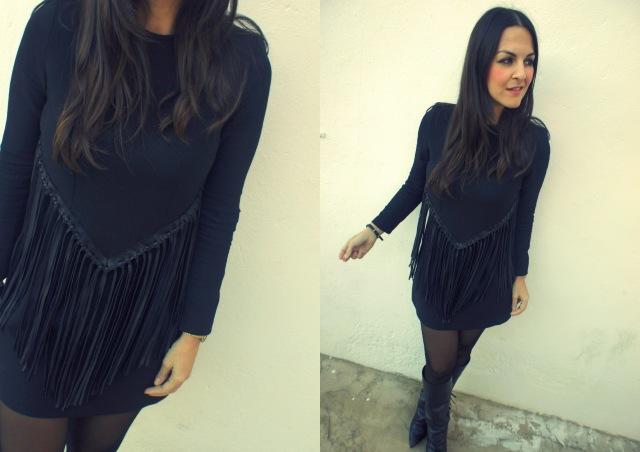 Vestido de flecos-001 apiesjuntillas.com