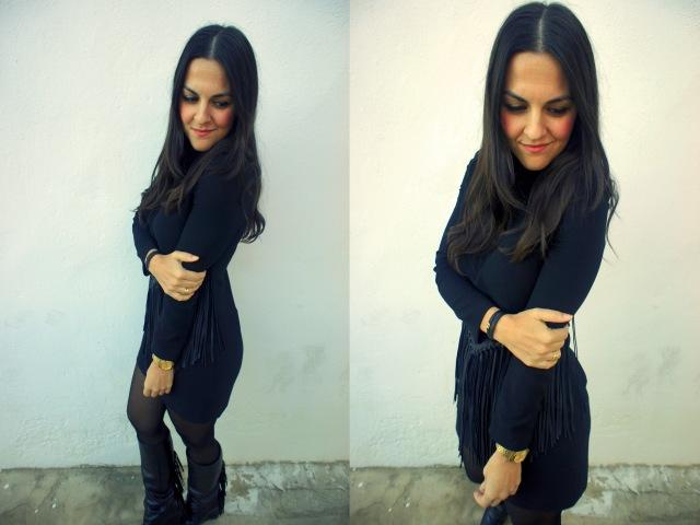 Vestido de flecos apiesjuntillas.com