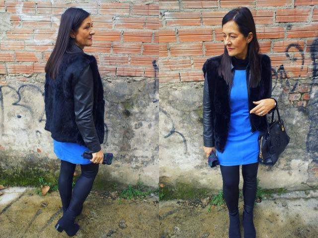 Post ama vestido azul apiesjuntillas.com